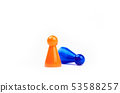 Two Plastic Toy - Orange Game Figurine Standing As 53588257