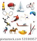 Extreme sport icons set 53590957