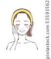 美麗的女性面孔 53593562