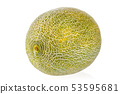 close-up view of fresh melon isolated on white 53595681