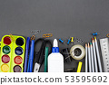office supplies on black background 53595692