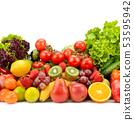 Fresh tasty vegetables, fruits and berries 53595942