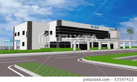 Airport Terminal 53597413