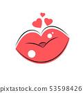 Women s lips logo for t-shirt, flyers , web 53598426