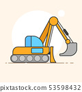 Excavator vector logo for your design needs. 53598432
