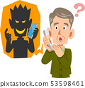 Telephone fraud and senior men likely to be deceived 53598461