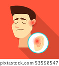 Vector illustration of damage and wound logo. Set of damage and rendering stock symbol for web. 53598547
