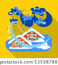 Vector illustration of collapse and environment icon. Set of collapse and distress stock symbol for 53598788