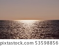 Sea and sky of the evening sun 53598856