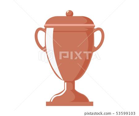 Trophy cup bronze bronze award third place 53599103