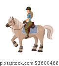 Vector design of horseback and equestrian logo. Collection of horseback and horse stock symbol for 53600468