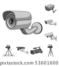 Vector design of camcorder and camera logo. Collection of camcorder and dashboard vector icon for 53601600
