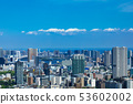 (Tokyo-city view) A view towards Harumi and Odaiba from the high-rise building lounge 4 53602002