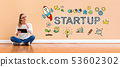 Startup with woman using a tablet 53602302