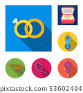 Vector illustration of jewelery and necklace logo. Set of jewelery and pendent stock symbol for web. 53602494