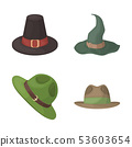 Isolated object of hat and cap sign. Set of hat and model stock symbol for web. 53603654