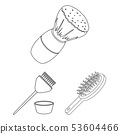 Vector illustration of brush  and hygiene  sign. Set of brush  and shower vector icon for stock. 53604466