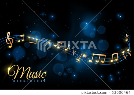 Music note poster. Musical background, musical notes swirling. Jazz album, classical symphony 53606464