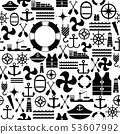 harbor seamless pattern background icon. 53607992