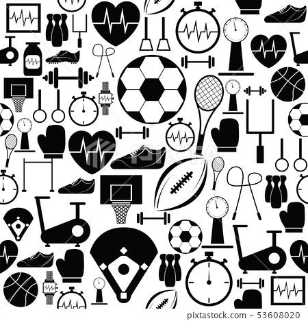 exercise seamless pattern background icon. 53608020