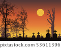 Vector realistic illustration of a haunted 53611396