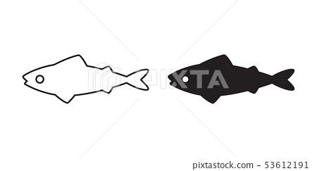 fish vector salmon icon tuna symbol cartoon  53612191