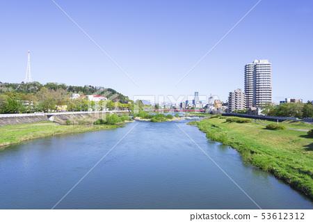 廣瀨川愛媛橋宮澤橋河河仙台市 53612312
