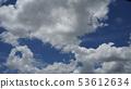 맑게 개인 푸른 하늘과 구름 53612634