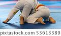 Kid judo, childrens martial art in hall 53613389