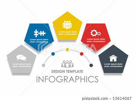 Infographic design template with place for your data. Vector illustration. 53614087