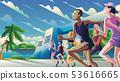 Marathon Running Theme Art 53616665