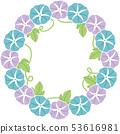 牵牛花花圈蓝色和紫色例证 53616981