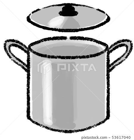 Illustration of stainless steel pot 53617040