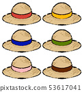 Straw hat illustration 53617041