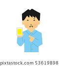 智能手機,智能手機,尷尬,尷尬笑(簡單觸摸) 53619898