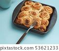 Tasty cinnamon pastry 53621233
