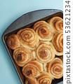Tasty cinnamon pastry 53621234