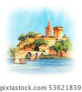 Famous Avignon Bridge, France 53621839