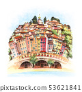 Menton Old Town, France 53621841