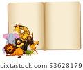 Wild animal on blank book template 53628179