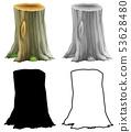 Set of tree stump 53628480
