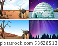 Set of nature landscape 53628513