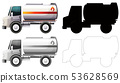 Set of petrol truck 53628569