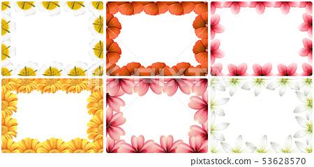 Set of flower border 53628570