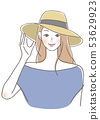 A woman wearing a hat 53629923