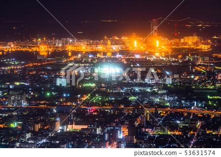 «大阪府»大阪灣區·城市夜景 53631574