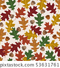 Seamless vector pattern with autumn leaves in 53631761
