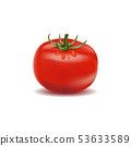 Real fresh tomato with water drop isolated white 53633589