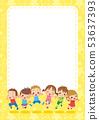 孩子們[黃色] [肖像]跳得很好 53637393