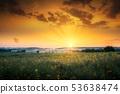 Sunrise and Farmland 53638474